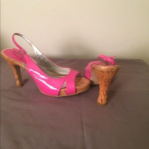 Sling Back cork heels